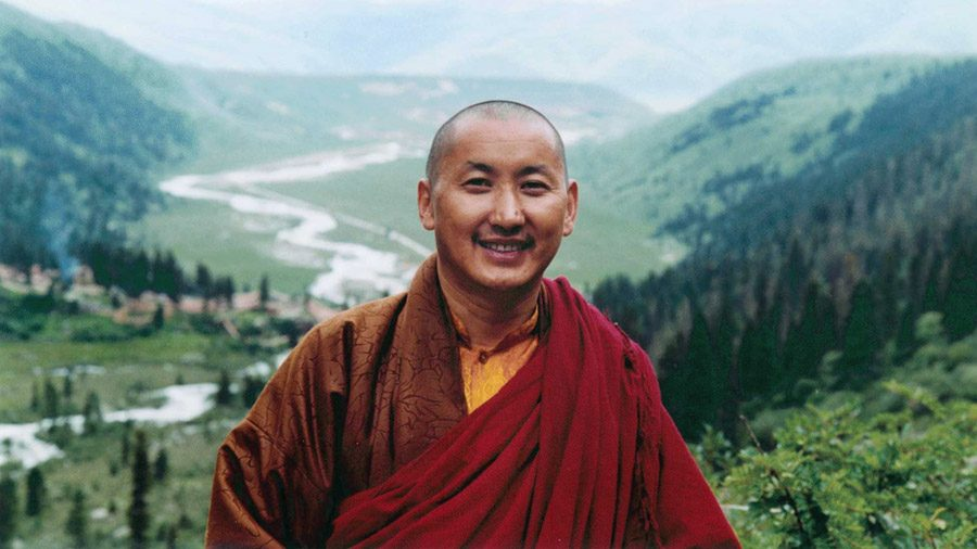 Ranyak Patrul Rinpoche with Dzogchen Valley behind